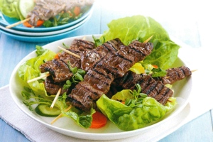 Orange Soy Beef Skewers