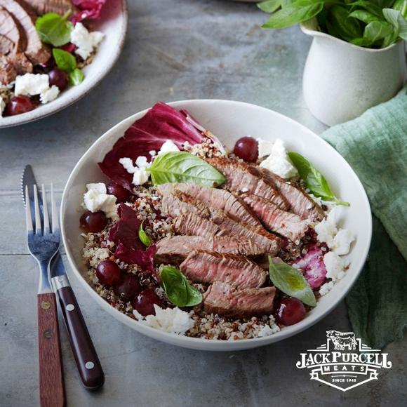 b097c3fa35a3 Warm Beef Salad with Grape and Feta